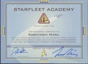 Starfleet Certificate Star Trek