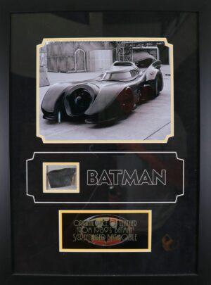 Original Batmobile leather piece