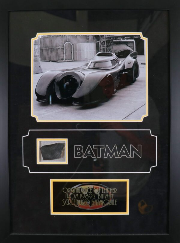 Original Batmobile leather piece