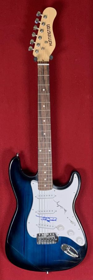 Joe Walsh and Don Henley Blue Sunburst Guitar