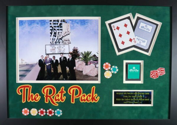 Rat Pack Match and Playing Cards