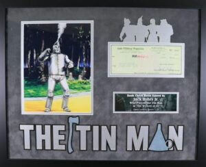 The Tin Man signed check