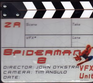 Spiderman 2 clapboard