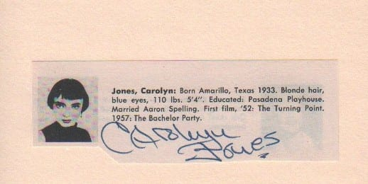 Carolyn Jones Signature