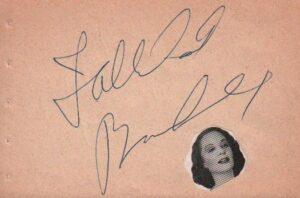 Tallulah Bankhead Signature