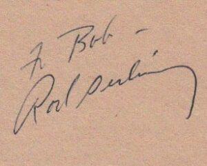 Rod Serling Signature