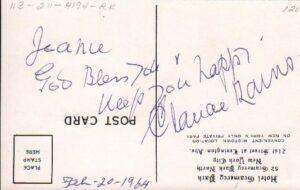 Claude Rains Signed Postcard